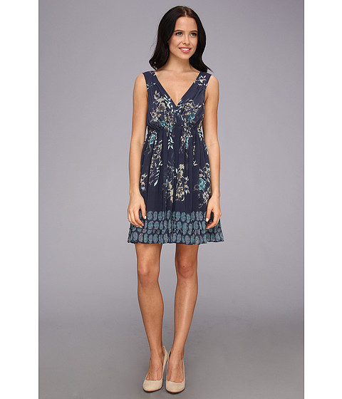 Free People - Spring Fever Mini Dress (Midnight Combo) Women's Dress
