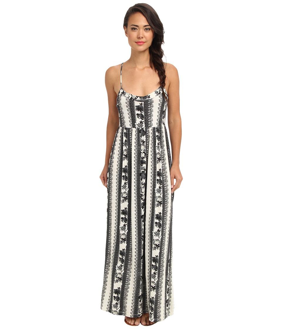 Volcom - Skippin Town Maxi Dress (Black Combo) Women