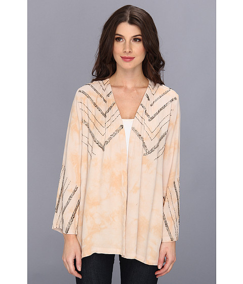 Chaser - Beaded Tie Dye Kimono (Cameo/Lace) Women's Clothing
