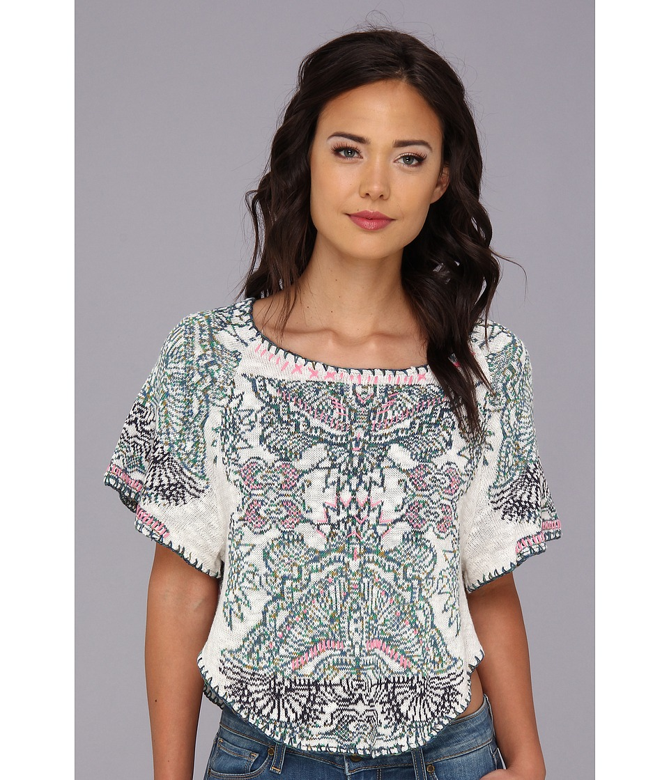 Free People - Mayan Starburst Pullover (Light Grey Combo) Women's Sweater