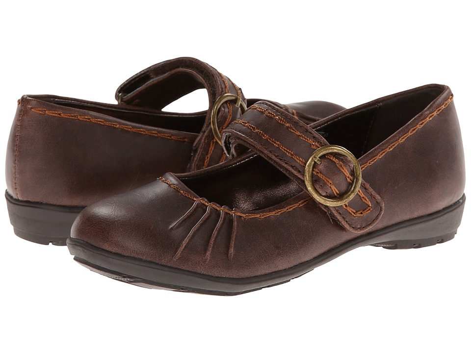 Kenneth Cole Reaction Kids - Rock-A-Fly 2 (Toddler/Little Kid) (Dark Brown Burnished) Girls Shoes