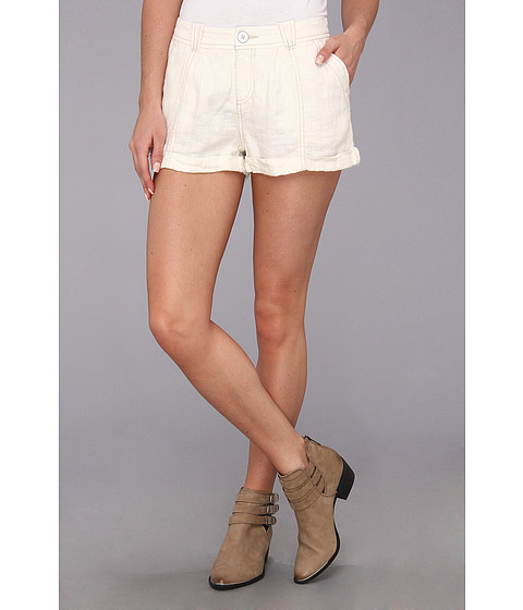 Free People - Yarn Dye Linen Short (Alabaster) Women