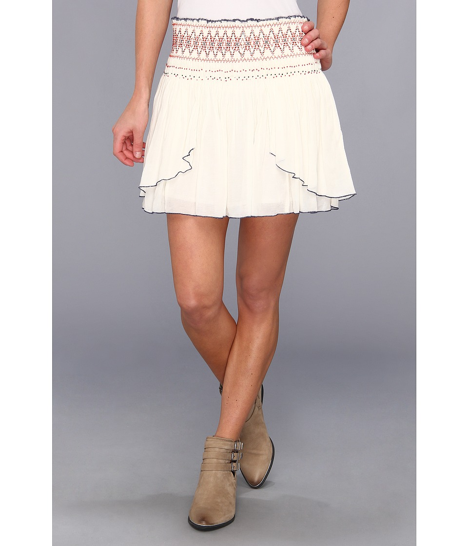 Free People - Lip Smocking Good Skirt (Ivory) Women