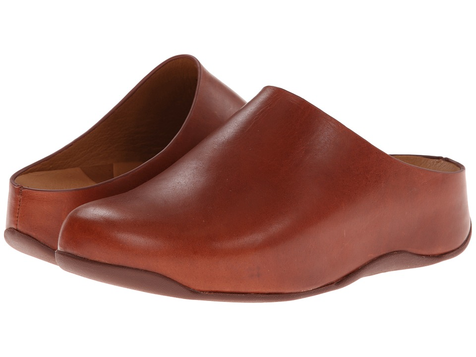 FitFlop - Shuv Leather (Dark Tan) Women's Clog Shoes