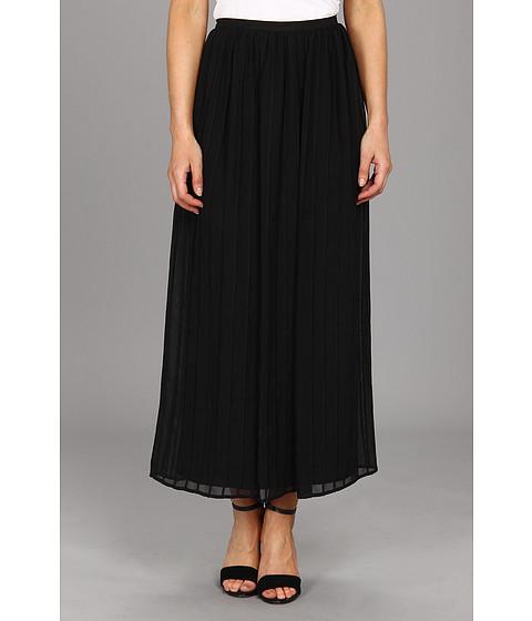 Calvin Klein - Pinktuck Maxi Polyester Chiffon Skirt (Black) Women's Skirt