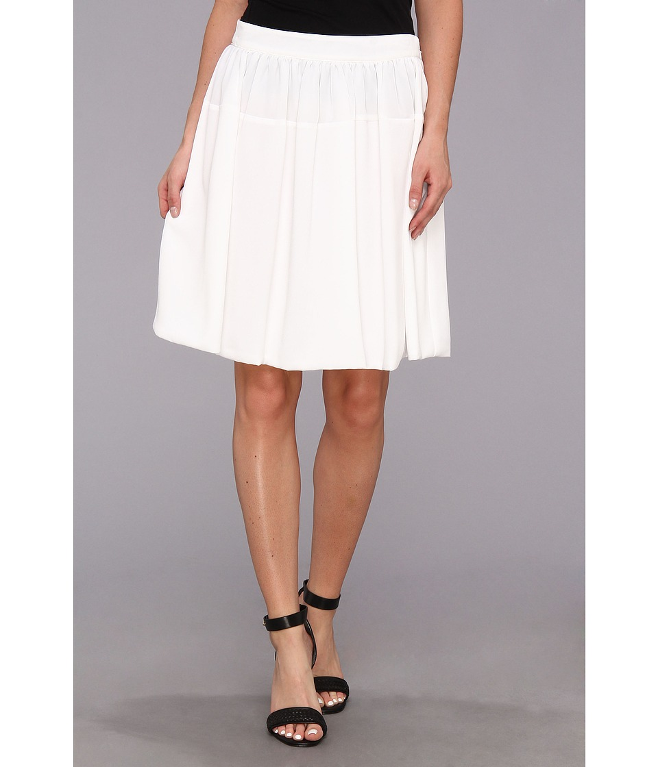 Calvin Klein - Poly Chiffon Circle Skirt w/ Chiffon (White) Women's Skirt