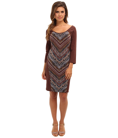 Free People - Out Of Africa Dress (Raisin Combo) Women's Dress