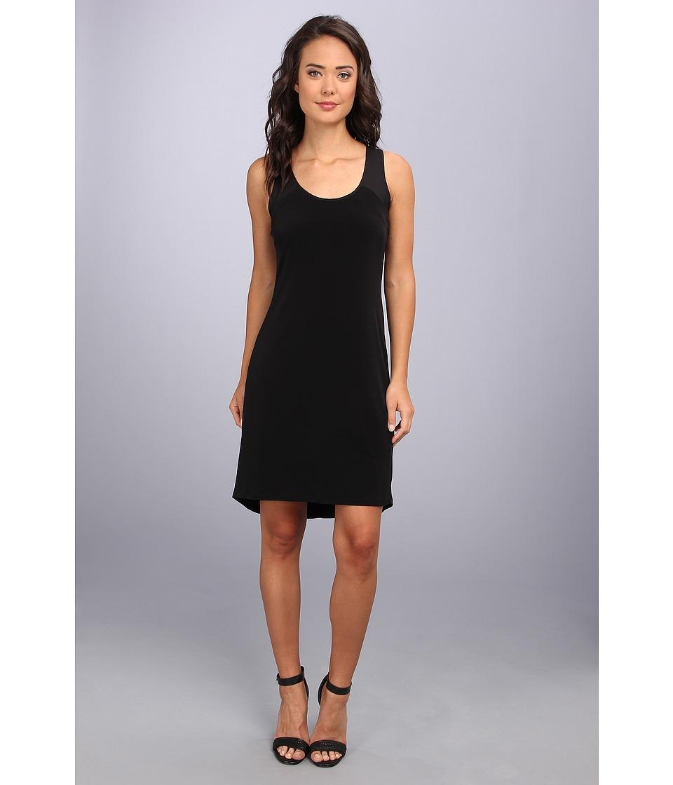 Calvin Klein - S/L High-Low Shirt Matte Jersey Dress (Black) Women's Dress