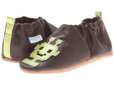 Robeez - 8Bit Android (Infant/Toddler) (Brown) Boys Shoes