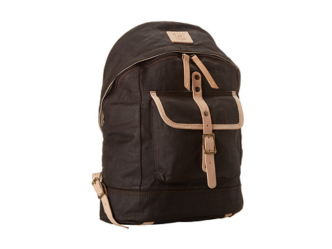 Will Leather Goods - Wax Canvas Dome Backpack (Brown) Backpack Bags