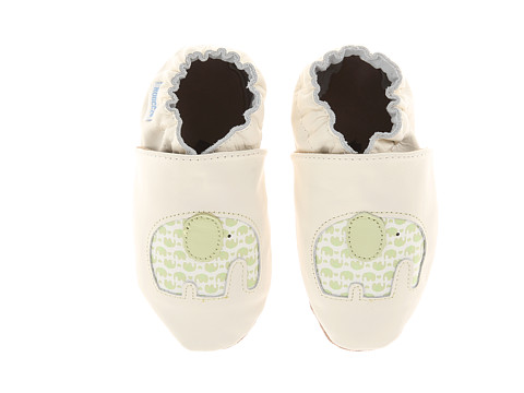Robeez - Seeing Double (Infant/Toddler) (Cream) Kids Shoes