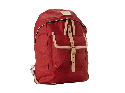 Will Leather Goods - Wax Canvas Dome Backpack (Red) Backpack Bags