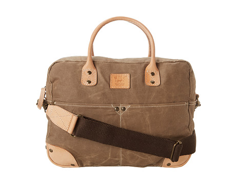 Will Leather Goods - Wax Canvas Flight Bag (Khaki) Handbags