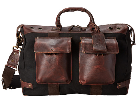 Will Leather Goods - Traveler Duffle (Black/Brown) Duffel Bags
