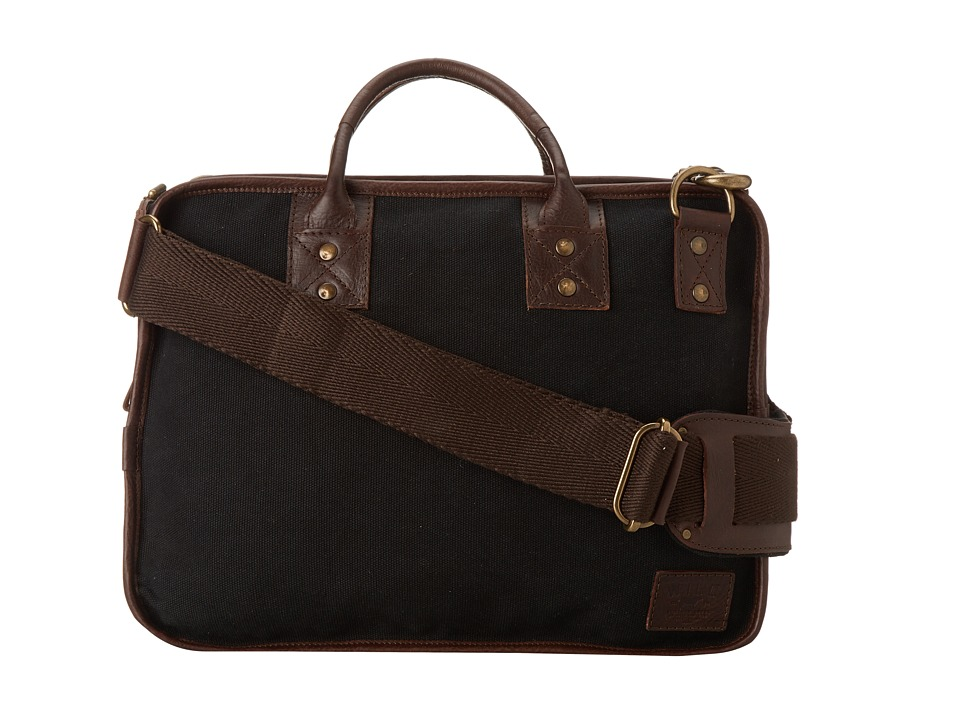 Will Leather Goods - Aldridge Satchel (Black/Brown) Messenger Bags