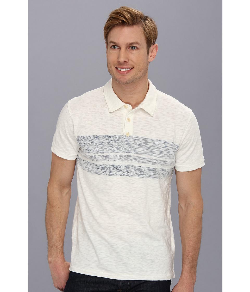 Lucky Brand Vintage Slub Polo Mens Short Sleeve Pullover (Pink)