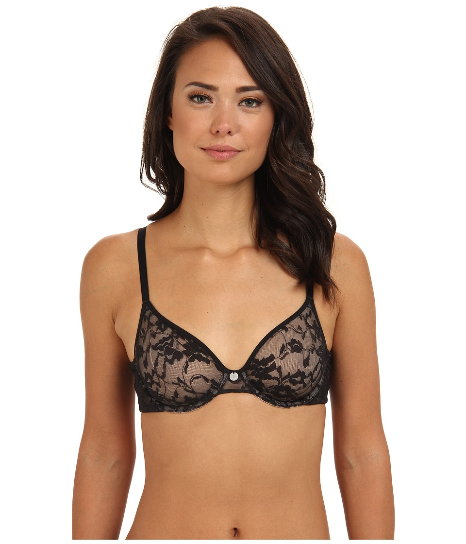 DKNY Intimates - Signature Lace Unpadded Bra 451238 (Black) Women's Bra