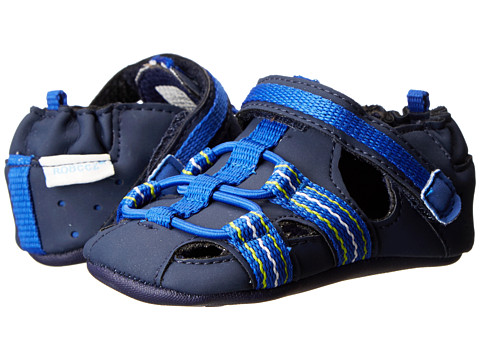 Robeez - Beach Break (Infant/Toddler) (Navy) Boys Shoes