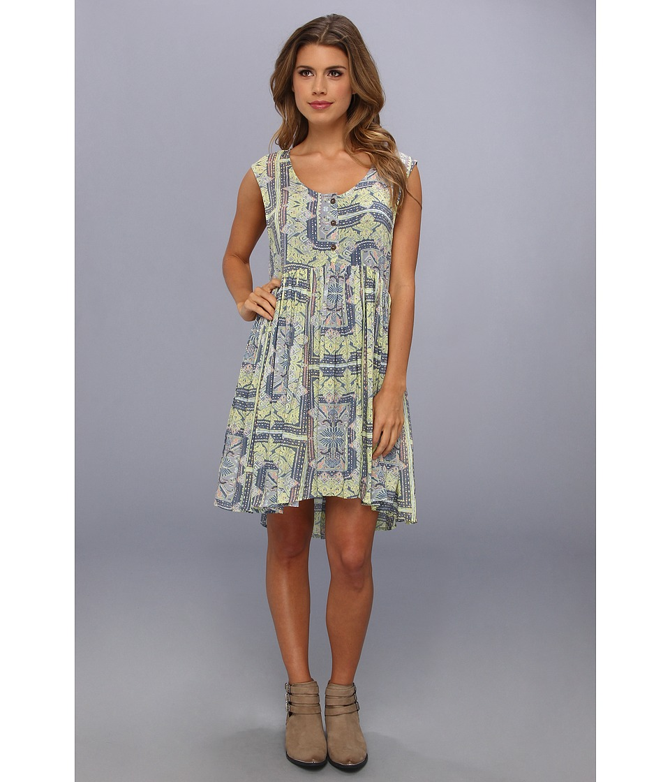 Free People - Take Me To Thailand Dress (Fog Combo) Women's Dress