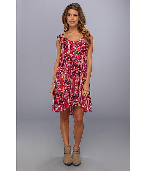 Free People - Take Me To Thailand Dress (Hot Pink Combo) Women's Dress