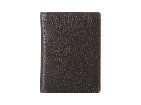 Jack Spade - Mason Leather Vertical Flap Wallet (Black/Orange) Bill-fold Wallet