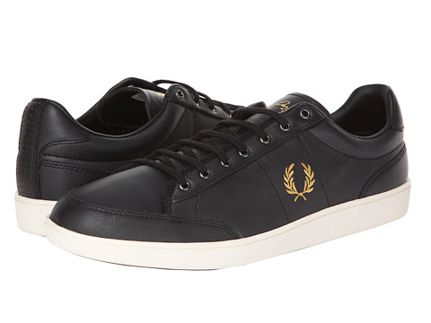 Fred Perry - Hopman Leather (Black/1964 Gold) Men