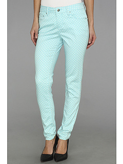 SALE! $19.99 - Save $64 on Jag Jeans Chloe Skinny Mini Polka Dot in Aqua Sea (Aqua Sea) Apparel - 76.20% OFF $84.00
