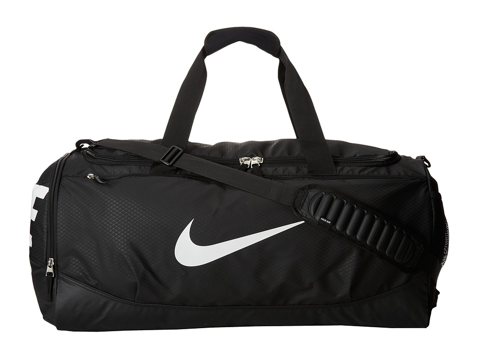 Nike - Team Training Max Air Large Duffel (Black/Black/White Multi Snake) Duffel Bags