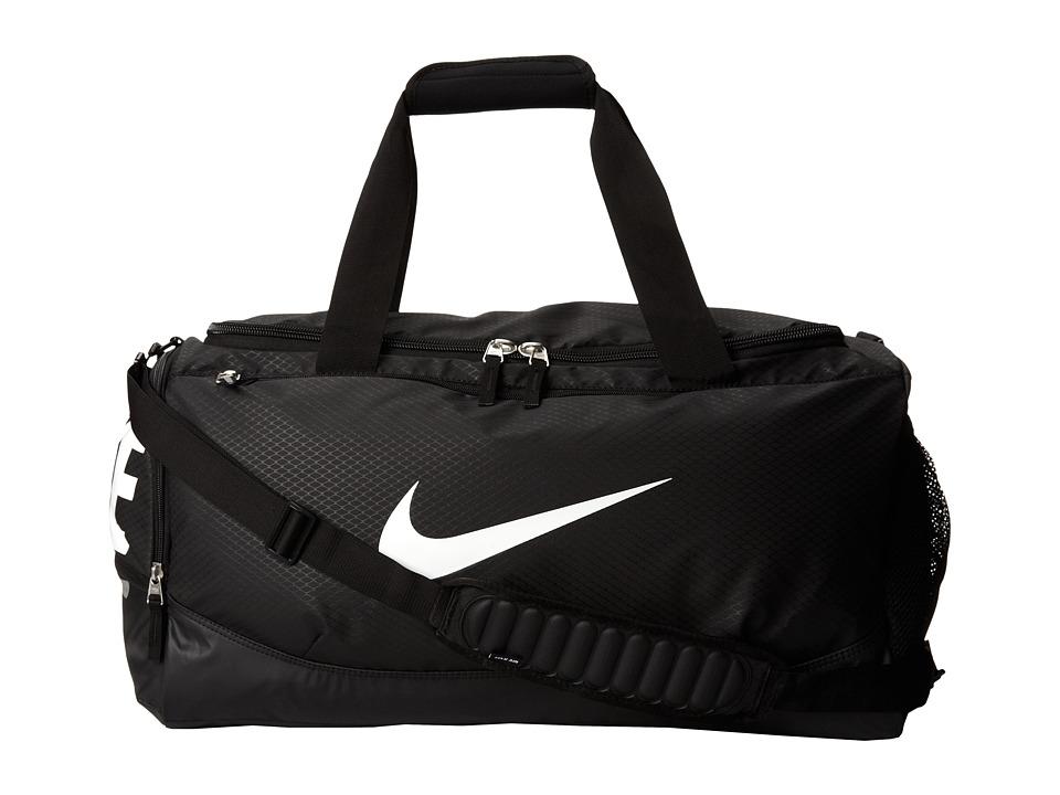 Nike - Team Training Max Air Medium Duffel (Black/Black/White Multi Snake) Duffel Bags