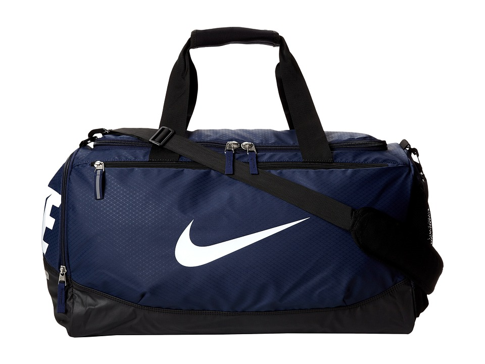 Nike - Team Training Max Air Medium Duffel (Midnight Navy/Black/White) Duffel Bags