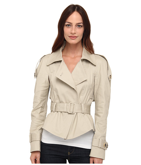 McQ - Trench Jacket (Stone) Women's Coat
