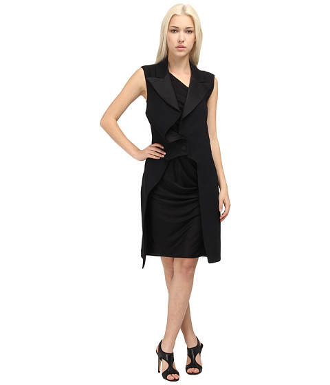 McQ - Mix Dress (Velvet Black) Women