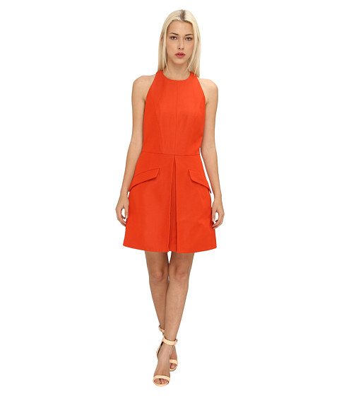 McQ - Round Neck Tailored Dress (Ruby Red) Women's Dress