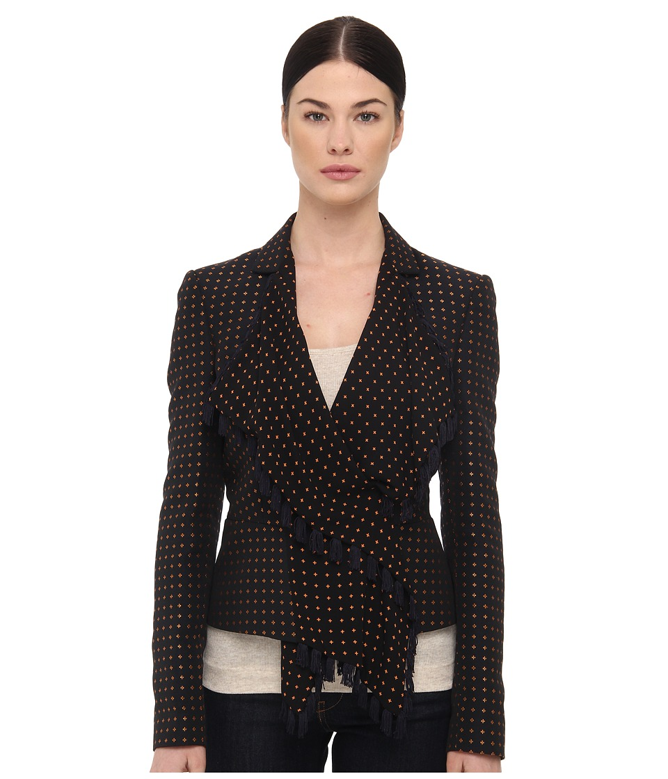 McQ - Scarf Jacket (Nero/Navy) Women's Jacket