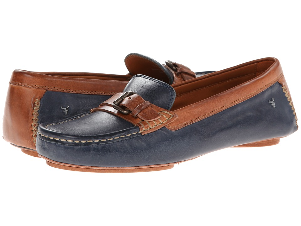 Trask Kara (Blue Vintage Steer/Darkk Natural Vachetta) Women