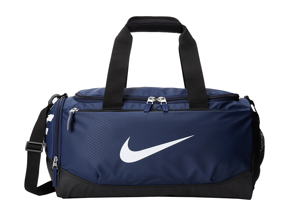 Nike - Team Training Max Air Small Duffel (Midnight Navy/Black/White) Duffel Bags