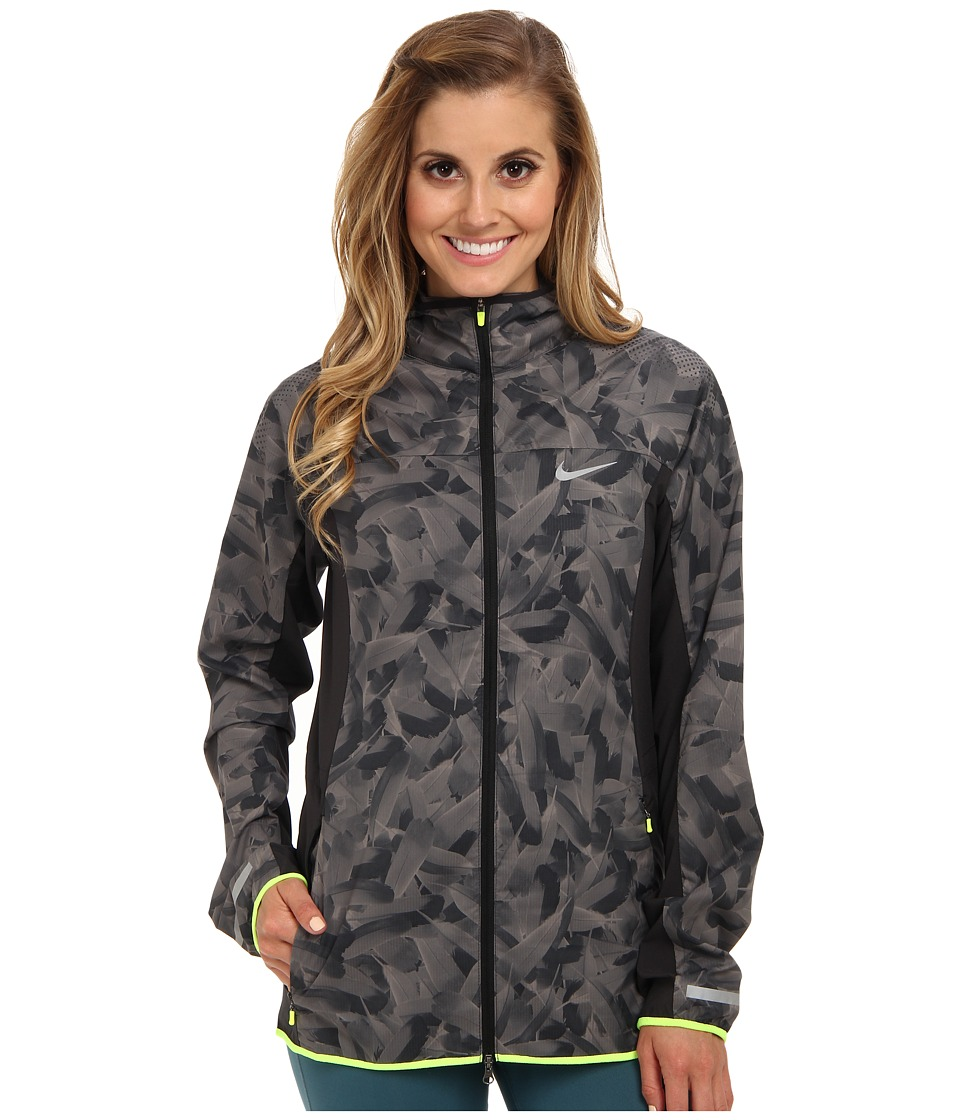 Nike - Printed Trail Kiger Jacket (Dark Ash/Light Ash/Volt/Reflective Silver) Women