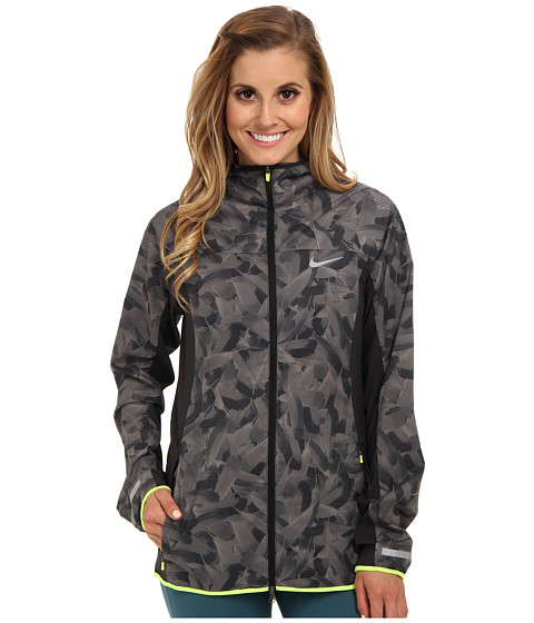 Nike - Printed Trail Kiger Jacket (Dark Ash/Light Ash/Volt/Reflective Silver) Women's Jacket