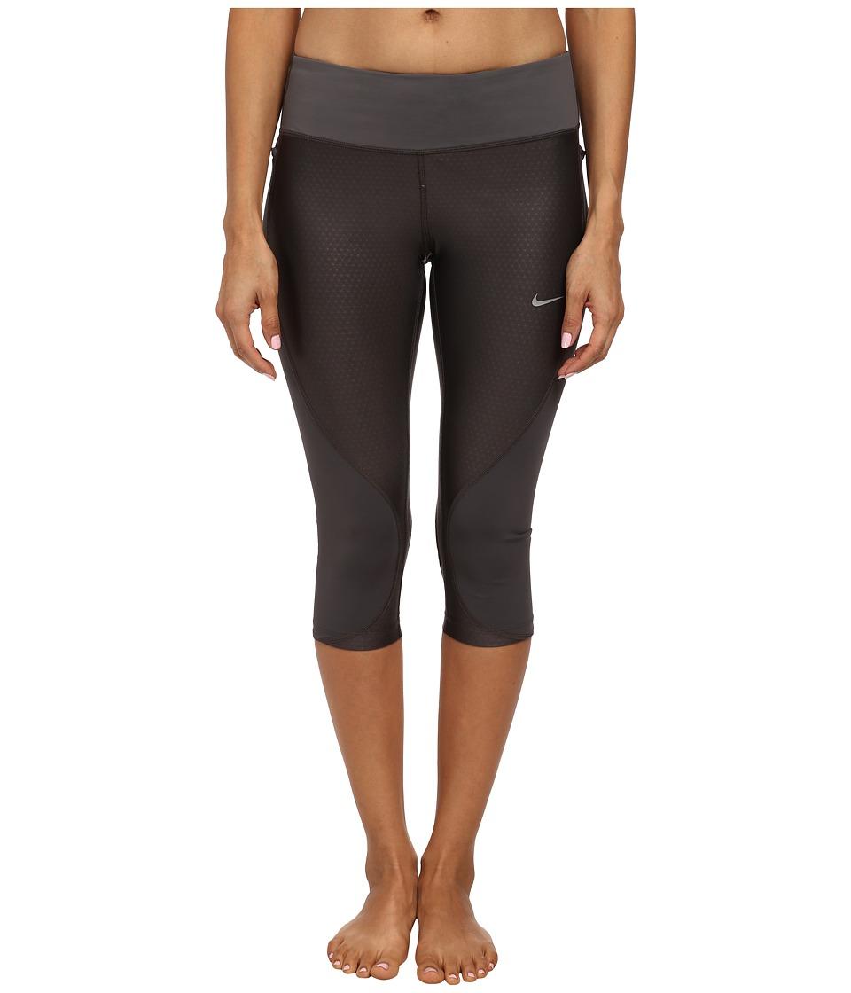 Nike - Trail Capri (Medium Ash/Dark Ash/Volt/Reflective Silver) Women