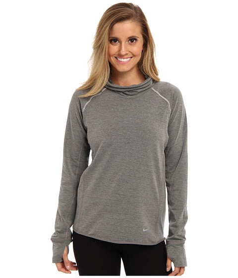 Nike - Dri-Fit Feather Fleece Pullover (Light Ash Grey/Medium Ash/Reflective Silver) Women