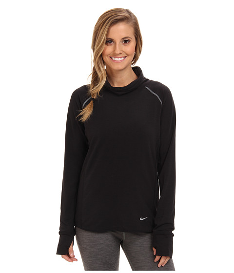 Nike - Dri-Fit Feather Fleece Pullover (Black/Black/Reflective Silver) Women
