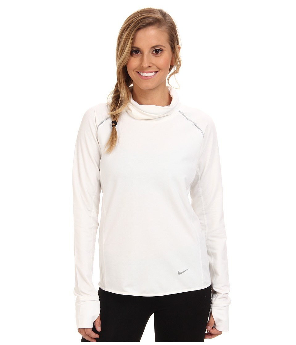 Nike - Dri-Fit Feather Fleece Pullover (White/Reflective Silver) Women's Sweatshirt