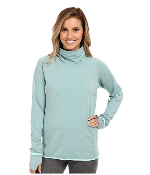 Nike - Dri-Fit Feather Fleece Pullover (Medium Mint/Cannon/Reflective Silver) Women's Sweatshirt