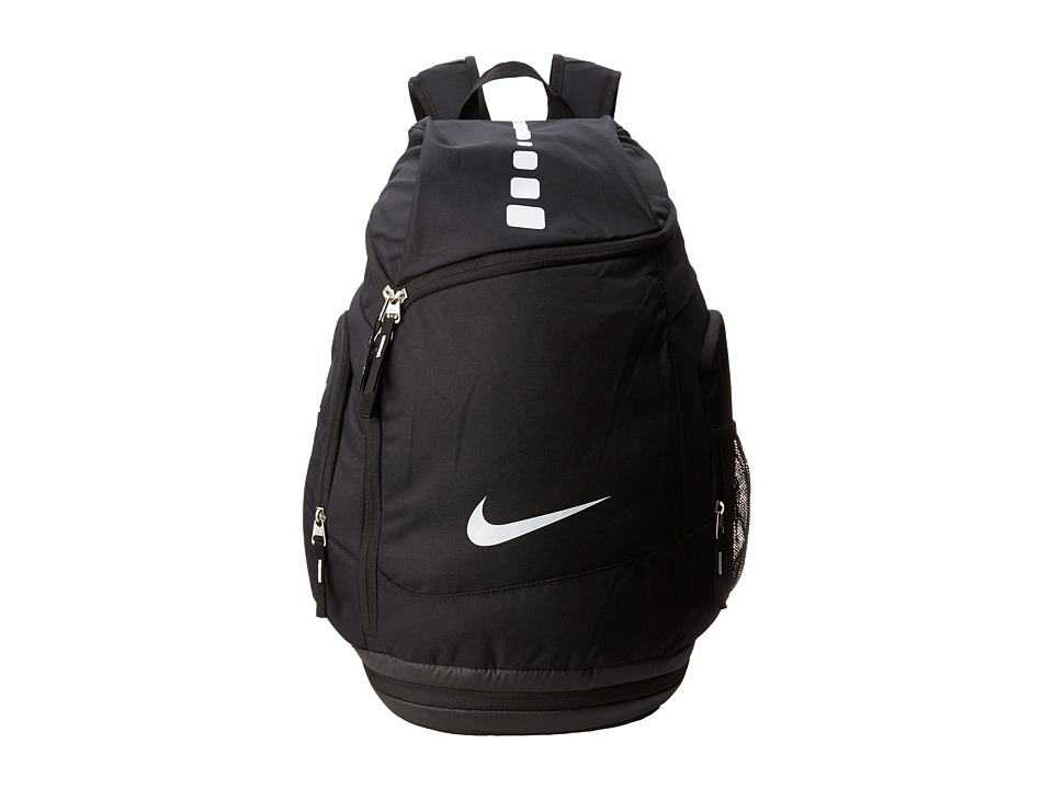 Nike - Hoops Elite Max Air Team (Black/Black/White Multi Snake) Backpack Bags