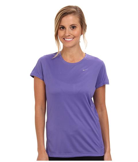 Nike - Miler S/S Crew Top (Purple Haze/Reflective Silver) Women's Workout