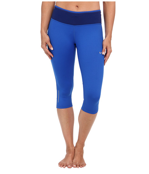 Nike - Dri-Fit Epic Run Capri (Hyper Cobalt/Deep Royal Blue/Matte Silver) Women's Capri