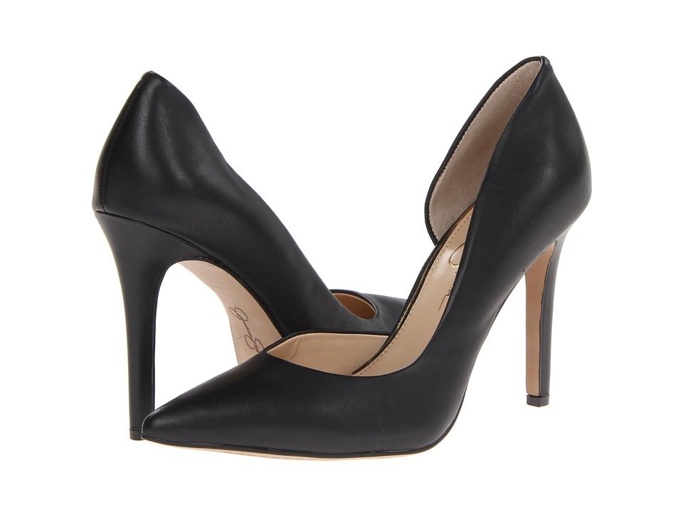 Jessica Simpson Claudette (Black Alisina Leather) High Heels