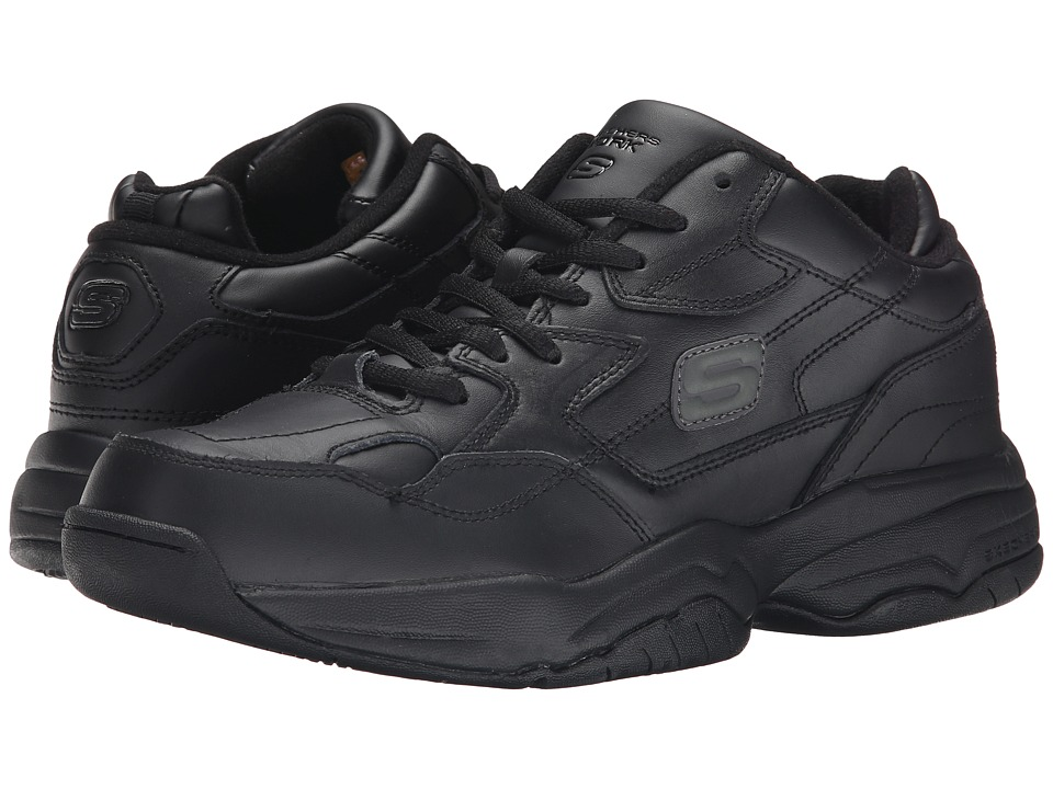 SKECHERS Work - Keystone (Black) Men's Industrial Shoes