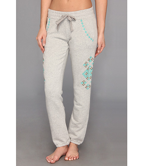 Lucky Brand - Embellished Sweatpant (Light Heather Grey) Women's Casual Pants