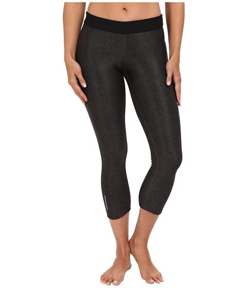 Nike - Printed Relay Capri (Black/Wolf Grey/Matte Silver) Women